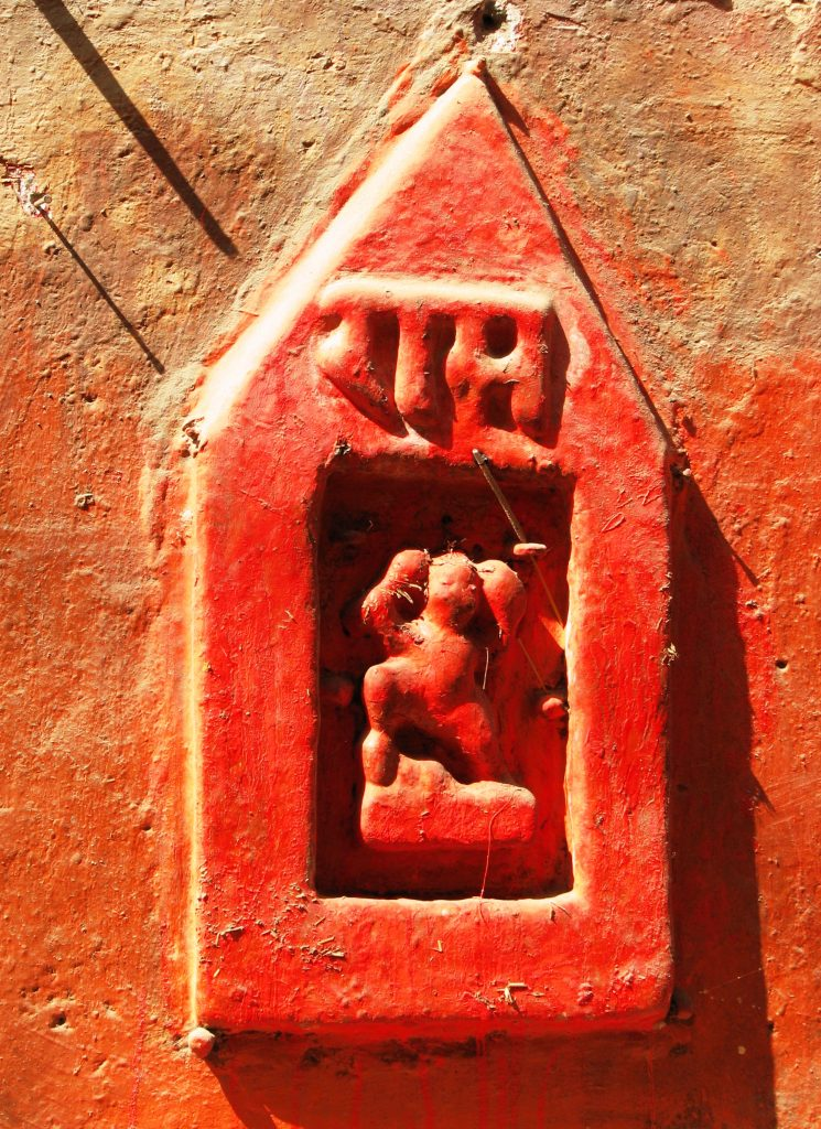 Wandnische in Benares